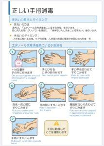 正しい手の消毒の仕方を改めてご紹介します/新宿マッサージ